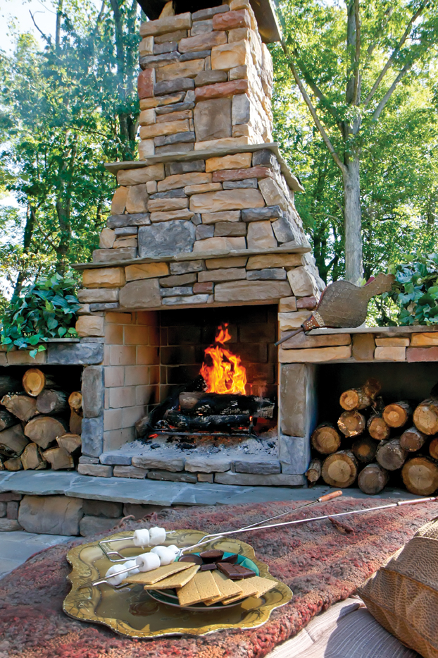 Warm Up to Outdoor Living: Fireplaces and Heaters Can Make ... on Backyard Outdoor Fireplace id=92281